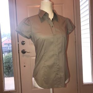 NY&CO Stretch Button Up Business Blouse